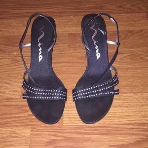 Fancy black heels